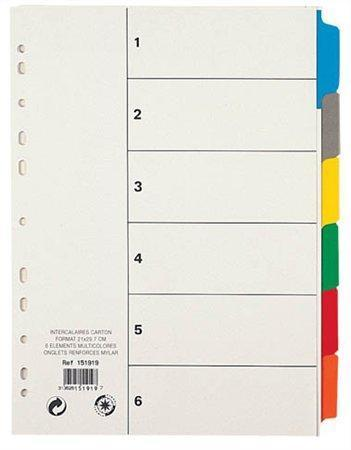 Rozlišovače, karton, A4, 6 listů, VIQUEL