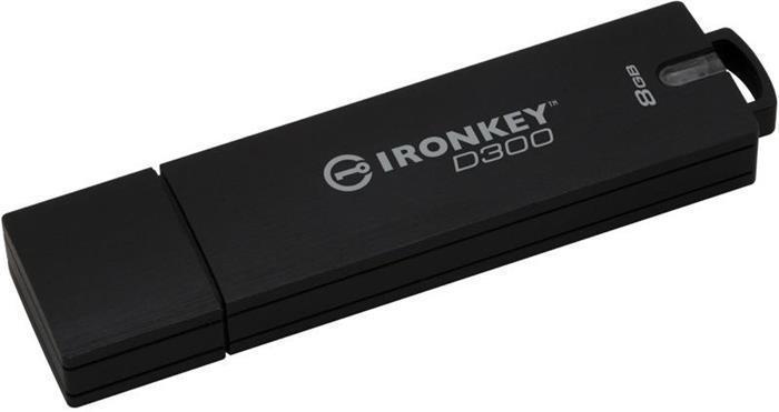 """USB Flash disk """"Ironkey D300"""", 8GB, USB 3.0,  165/22MB/s, šifrovaný, voděodolný, KINGSTON"""