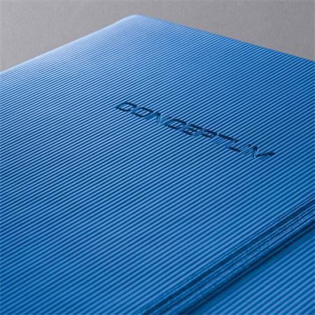 """Exkluzivní zápisník """"Conceptum"""", modrá, A5, čtverečkovaný, 194 listů, SIGEL"""