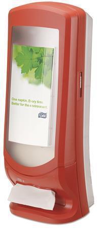 """Zásobník na ubrousky """"Xpressnap"""", červená, N4 systém, 62,2x23,5x23,5 mm, TORK"""
