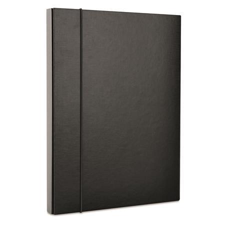 Box na dokumenty, černý, PP/karton, 30mm, DONAU