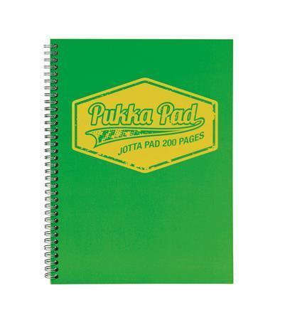 """Blok """"Jotta Neon"""", zelená, A5, čtverečkovaný, 100 listů, spirálová vazba, PUKKA PAD"""
