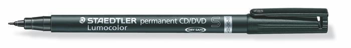 """Permanentní popisovač na CD/DVD """"Lumocolor 310-9"""", černá, 0,4 mm, STAEDTLER"""