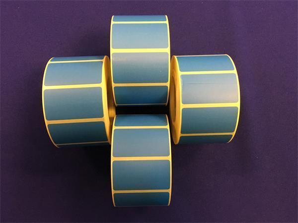 Label, thermo, 25×45 mm, 1000 label/roll, blue