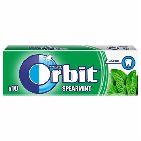 "Žvýkačky, 14g, ORBIT ""Spearmint dragees"""