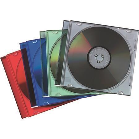 Obal na CD, mix barev, slim, na 1 disk, FELLOWES