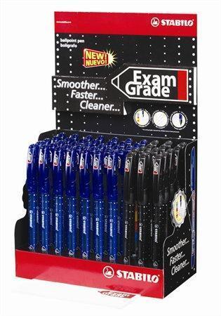 """Kuličkové pero """"Exam Grade"""", modrá, černá, 0,45mm, s uzávěrem, 50ks/displej, STABILO Počet kusů v balení: 50"""