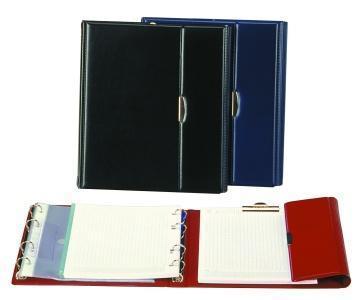 """Konferenční desky, A5, koženka, PANTAPLAST """"Optimus"""", modré"""