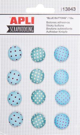 Knoflíky, samolepící, APLI, modré