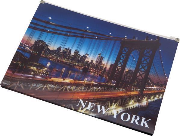 """Desky na dokumenty """"New York"""", se zipem, A4, PP, PANTA PLAST"""