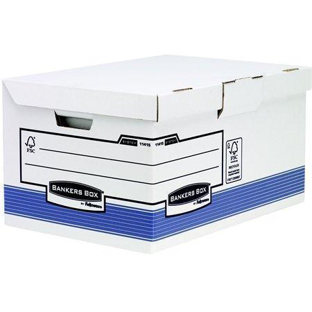 """Archivační krabice """"BANKERS BOX® SYSTEM"""", modrá, Flip Top víko, Maxi, FELLOWES"""