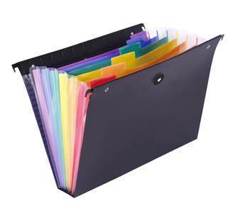 """Závěsné zakládací desky """"Rainbow Class"""", 6 záložek, černé, VIQUEL"""