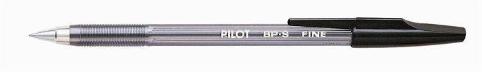 """Kuličkové pero """"BP-S"""", černá, 0,27mm, PILOT"""