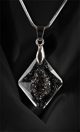 Náhrdelník, s přívěskem Crystals in Crystal Black Diamond Swarovski®, 26mm, ART CRYSTELLA®
