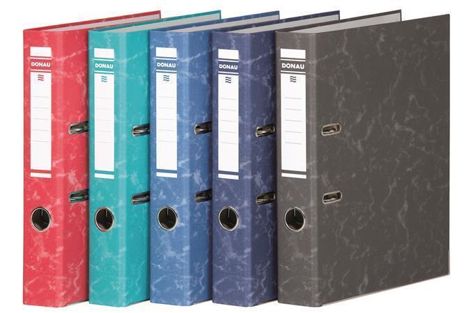 """Pákový pořadač """"Eco"""", tmavě modrý, 50 mm, A4, s ochranným spodním kováním, karton, DONAU"""