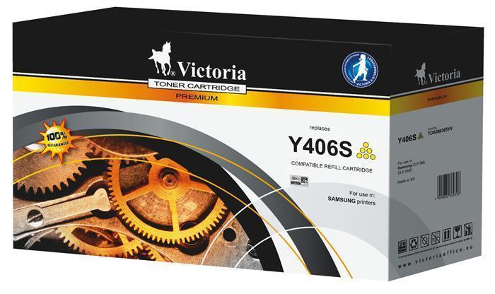CLT-Y406S Inkjet cartridge pro tiskárny CLP 365, CLX 3305, žlutý, 1000 str., VICTORIA