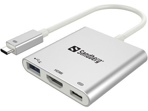 HDMI - USB-C multi adapter, USB2.0, USB 3.0, SANDBERG