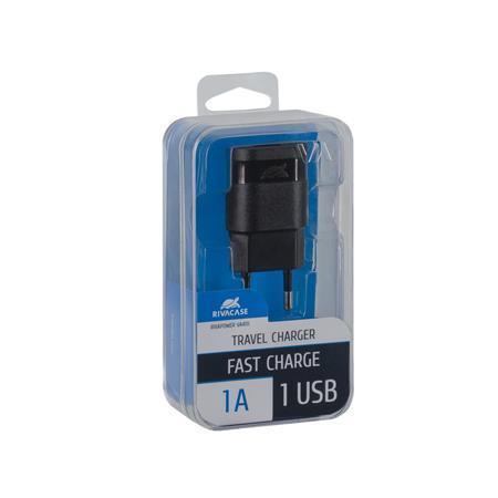 "Nabíječka ""VA 4111 B00"", černá, USB, 1A, RIVACASE"