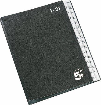 Třídící kniha, černá, A4, 1-31, karton, 5 STAR