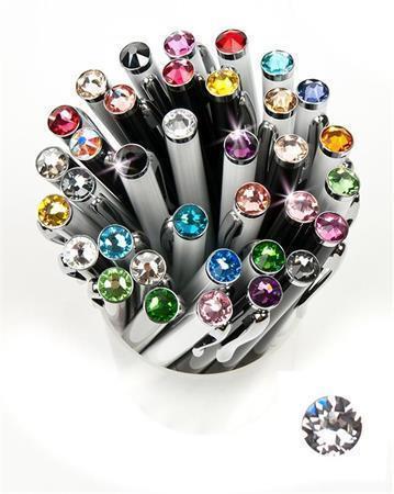 """Kuličkové pero,  SWAROVSKI® Crystals, bílá, 14cm """"Elegante"""", krystal bílá"""
