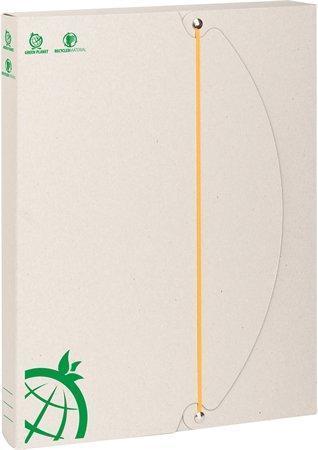 """Desky s gumičkou """"Green"""", zelené, 50 mm, karton, A4, ICO"""