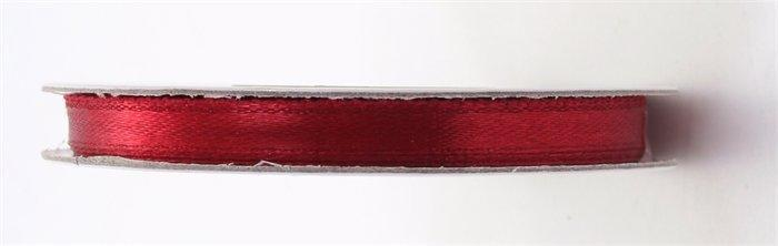 Satin ribbon, 6 mm, claret