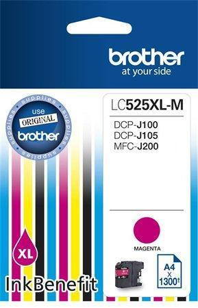 LC525XLM Inkjet cartridge for DCP-J100, J105 printers, BROTHER magenta, 1 200 pages