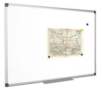 Bílá magnetická tabule, 100x100cm, hliníkový rám, VICTORIA