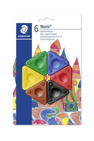 """Voskovky """"Noris Club"""", trojúhelníkový tvar, 6 barev, STAEDTLER"""
