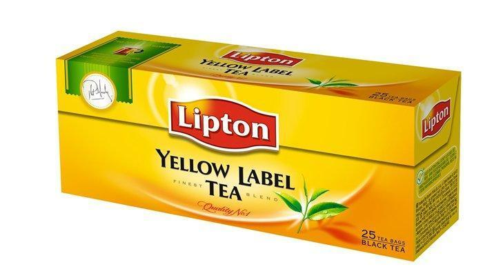 "Čaj, černý, 25x2 g, TWININGS ""Yellow label"""
