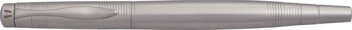 """Roller """"Clipper"""", stříbrné tělo, chromovaný klip, s víčkem, černý inkoust, VUARNET"""