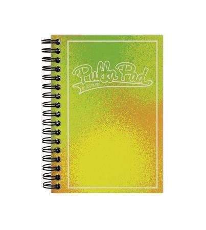 "Blok ""Bright"", A6, zelená-žlutá, linkovaný, 100 listů, spirálová vazba, PUKKA PAD"