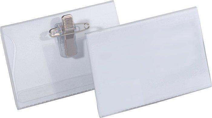 Jmenovka s klipem a špendlíkem, 90x55 mm, 5 STAR