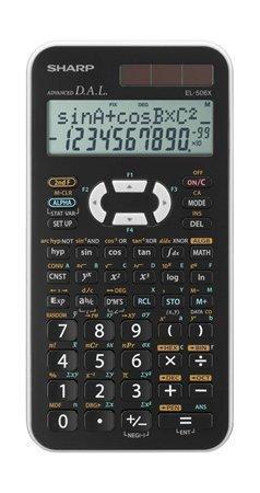 """Kalkulačka vědecká """"EL506X"""", bílá, 469 funkcí, SHARP"""