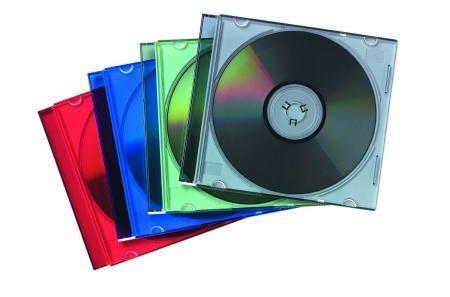 CD-box, slim, na 1ks, FELLOWES, čirý, 10ks/bal.