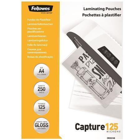Laminovací fólie, lesklá, 125 micron, A4, FELLOWES