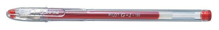 """Gelové pero """"G-1"""", červená, 0,32 mm, s uzávěrem, PILOT"""