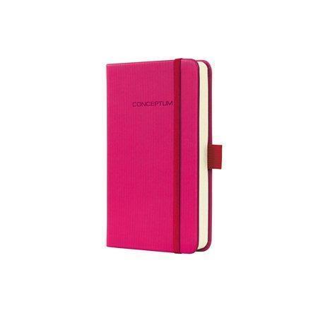 """Záznamní kniha """"Conceptum"""", růžová, tvrdé desky, A6, linkovaná, 194 listů, SIGEL"""