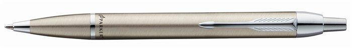 """Kuličkové pero """"I. M. Brushed Metal"""", stříbrné tělo, stříbrný klip, PARKER"""