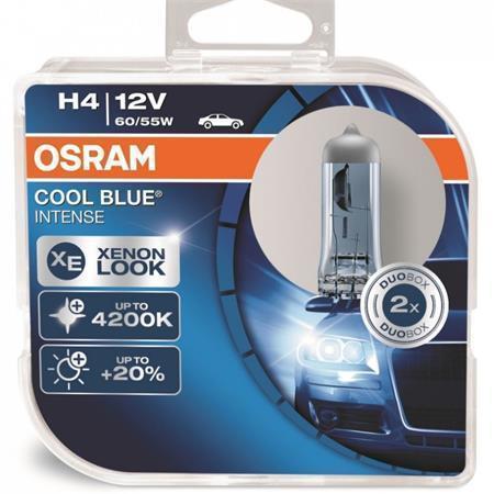 """Halogenová žárovka """"Cool Blue Intense"""", H4, 60/55W, 12V, 2ks, OSRAM"""