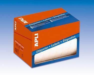 Etikety, bílá, 38 x 102mm, na ruční popis, 400 ks/bal., kotouč, APLI