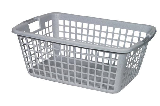 Koš na čisté prádlo, šedá, plast, CURVER