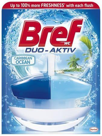 "WC blok ""Duo Aktiv"", oceán, gel, 50 ml, BREF"