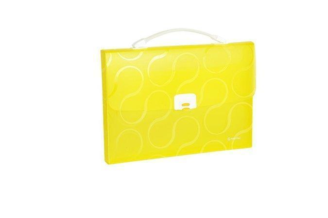 "Aktovka na spisy ""Omega"", žlutá, A4, 1 část, PP, PANTA PLAST"