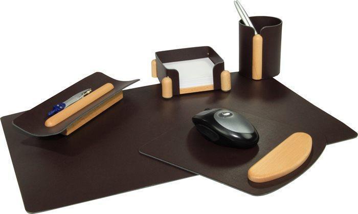 """Kancelářská souprava na stůl """"5019"""", hnědá, 5 částí, PANTA PLAST"""