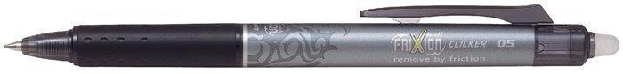 """Roller """"Frixion Clicker"""", černá, 0,5/0,25mm, vymazatelný, blister, PILOT"""