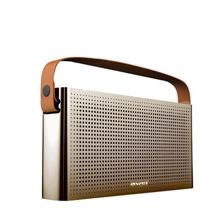 "Reproduktor ""Y300"", zlatá, přenosný, bezdrátový, Bluetooth, 2 x 5W, AWEI"
