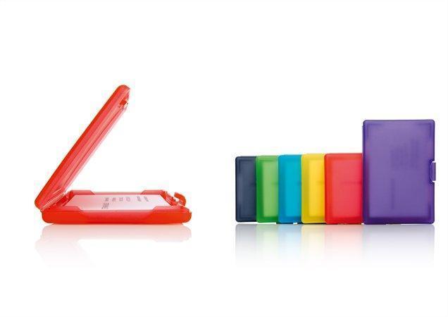 """Pouzdro na vizitiky """"Coolori"""", purpurová, plastové, SIGEL"""