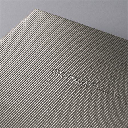"""Záznamní kniha """"Conceptum"""", titanová metalická, exkluzivní, A6, linkovaný, 194 listů, SIGEL"""