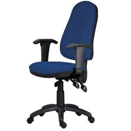 "Office chair, fabric, black base, ""XENIA ASYN "" blue"